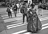 2011 August 30 - Painted woman, Pike Street and 5th Avenue, Seattle, WA, USA. Copyright Richard Walker