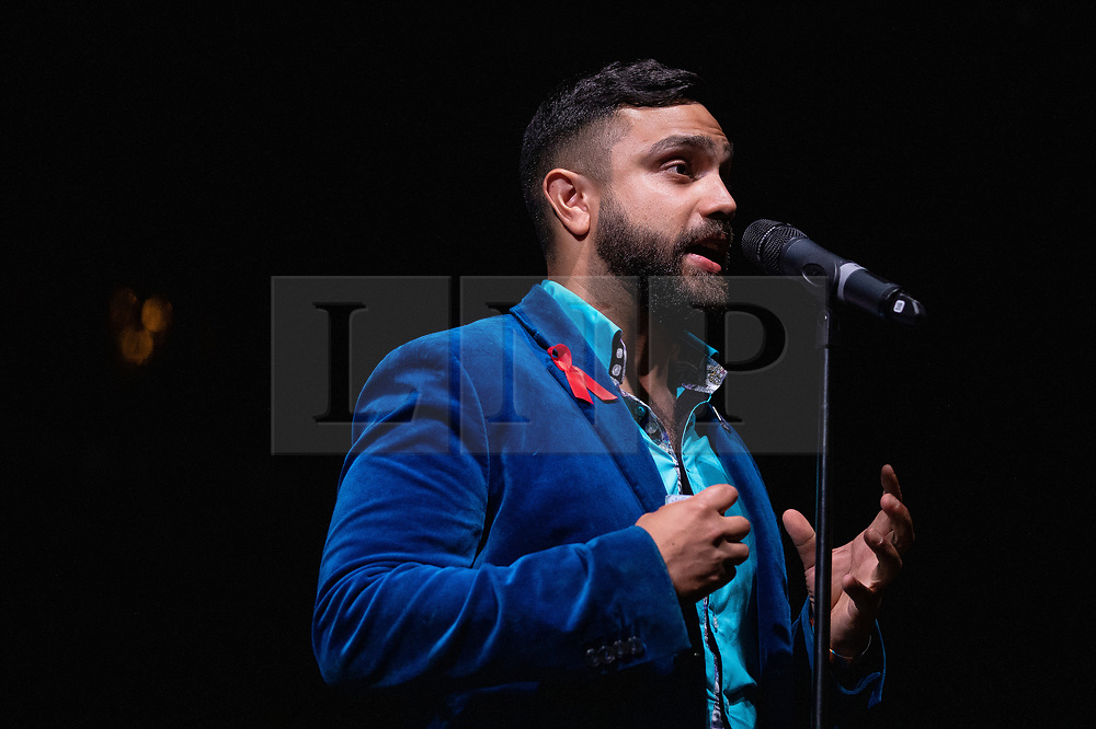 © Licensed to London News Pictures . 26/08/2019. Manchester, UK. DR NEIL CHORDHURY . A candlelit vigil , organised by the George House Trust , in memory of the victims of HIV and AIDS , takes place in Sackville Gardens in Manchester's Gay Village , at the close of 2019's Manchester Pride . Photo credit: Joel Goodman/LNP