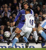 Photo: Paul Thomas.<br />Chelsea v Wycombe Wanderers. Carling Cup, Semi Final 2nd Leg. 23/01/2007.<br /><br />Andriy Shevchenko (Blue) of Chelsea has an early shot at goal.