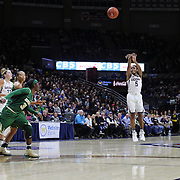 STORRS, CONNECTICUT- NOVEMBER 17: Crystal Dangerfield #5 of the UConn Huskies shoots a three pointer during the UConn Huskies Vs Baylor Bears NCAA Women's Basketball game at Gampel Pavilion, on November 17th, 2016 in Storrs, Connecticut. (Photo by Tim Clayton/Corbis via Getty Images)