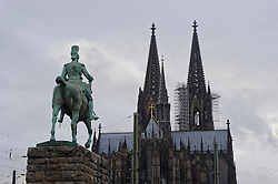 Cologne, Germany, Jan. 2012 -  The spires of the Cologne Dom Cathedral. (Photo © Jock Fistick).