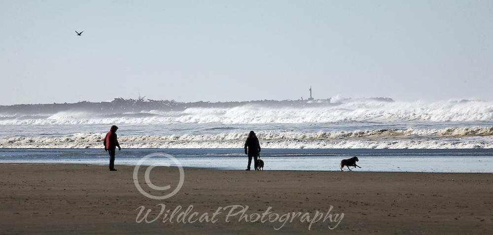 Heceta Beach looking toward North Jetty.