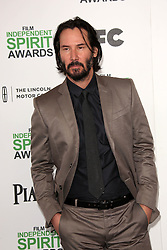Keanu Reeves at the 2014 Film Independent Spirit Awards Arrivals, Santa Monica Beach, Santa Monica, United States, Saturday, 1st March 2014. Picture by Hollywood Bubbles / i-Images<br /> UK ONLY