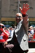Bobby Smith at the Major League Baseball All-Stars and 49 Hall of Famers ride up Sixth Avenue in All Star-Game Red Carpet Parade Presented by Chevy on July 15, 2008