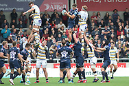 Sale Sharks Jono Ross (Capt) during the Gallagher Premiership Rugby match between Sale Sharks and Worcester Warriors at the AJ Bell Stadium, Eccles, United Kingdom on 9 September 2018.