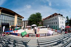 View on the court at Zavarovalnica Triglav Beach Volley Open as tournament for Slovenian national championship on July 29, 2011, in Kranj, Slovenia. (Photo by Matic Klansek Velej / Sportida)
