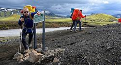 07-07-2014 ISL: Iceland Diabetes Challenge Dag 3, Hrafntinnusker<br /> Trek van Hrafntinnusker naar Aftavatn / Harold