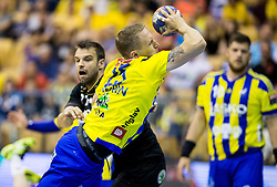 Tilen Kodrin of Celje during handball match between RK Celje Pivovarna Lasko and RK Gorenje Velenje in Last Round of 1. Liga NLB 2016/17, on June 2, 2017 in Arena Zlatorog, Celje, Slovenia. Photo by Vid Ponikvar / Sportida