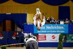 TAILLEZ Clement (FRA), Dyronn<br /> Dortmund - Signal Iduna Cup 2018<br /> FEI World Cup Vaulting Male<br /> Voltigieren Herren 1.Umlauf<br /> www.sportfotos-lafrentz.de/Stefan Lafrentz<br /> Datum 23.03.18