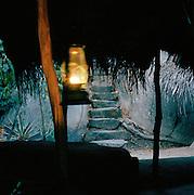 Lamplit Steps in Ulpotha, Sri Lanka