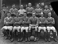 Fotball<br /> England<br /> Foto: Colorsport/Digitalsport<br /> NORWAY ONLY<br /> <br /> Chelsea historikk<br /> Chelsea Team  group 1920 / 21 <br /> Back row, L to R : Jack Harrow, Fred Barrett, James Molyneux, Harry Wilding, Jack Cock,Robrt 'bob' McNeil.J.Whitley (trainer).<br /> Front row: Harry Ford,Walter Bettridge,James Ferris, Nils Middelboe, Jimmy Croal,Tommy Meehan.