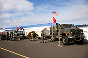 Military history display at Warbirds Over the West.