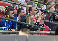 Football - SSE Women's FA Cup Final - Arsenal Women vs. Chelsea Ladies<br /> <br /> Emma Hayes, Chelsea Ladies FC Manager, lives every touch as she throws her arms in the air at Wembley Stadium.<br /> <br /> COLORSPORT/DANIEL BEARHAM