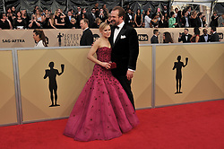 Kristen Bell and David Harbour arrives at the 24th annual Screen Actors Guild Awards at The Shrine Exposition Center on January 21, 2018 in Los Angeles, California. <br />