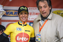 Marta Bastianelli is the Lotto Cycling Cup leader after winning Omloop van het Hageland - Tielt-Winge 2016. A 129km road race starting and finishing in Tielt-Winge, on February 28, 2016 in Vlaams-Brabant, Belgium.