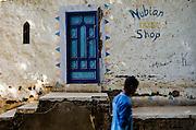 Nubian shop on Elephantine Island on the river Nile, Asan, home to Egypt's Nubian community