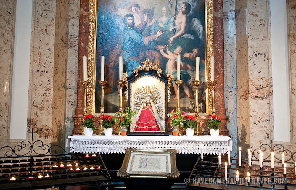 Altar in Karlskirche (St. Charles' Church) in Vienna, Austria