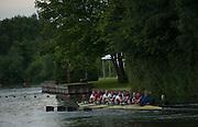 Henley. Great Britain.   Molesey Eights 40+ and 50+ 175th  Henley Royal Regatta, Henley Reach. England. 07:55:06  Sunday  06/07/2014. [Mandatory Credit; Intersport-images] <br /> <br /> Crews 40's Bow, Dan RITCHIE, James WRIGHT, Jonny SEARLE, Guy POOLEY, Alex Partridge, Mike BLOMQUIST, Simon FIELDHOUSE, Dave GILLARD, Neil CHUGANI,<br /> <br /> 50's Richard STANHOPE, Martin CROSS, Malcolm MCGOWAN, Joe MICHELS, Jean CHRISTOPHE-ROLLAND, Matt PINSENT, Ian MCNUFF, Diederik SIMON cox Gary HERBERT