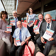 31.05.2018.          <br /> Limerick and Clare Education Training Board launch Youth Work Plan 2018-2021 at Thomond Park Limerick with Pat Breen TD, Minister of State with special responsibility for Trade, Employment, Business, EU Digital Single Market and Data Protection, Clare. <br /> <br /> Pictured at the event were, Cora Foley, LCETB, George O'Callaghan, LCETB, Seamus Bane, Jackie Dwane, Sean McMahon and Cllr. Kieran O'Hanlon. Picture: Alan Place