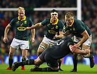 Rugby Union - 2017 Guinness Series (Autumn Internationals) - Ireland vs. South Africa<br /> <br /> South Africa's Peter-Steph du Toit Ireland's Ireland's Tadhg Furlong, at the Aviva Stadium.<br /> <br /> COLORSPORT/KEN SUTTON