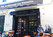 The Pub public house bar, Archbishop Street, Valletta, Malta where Oliver Reed died