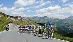06.07.2011, AUT, 63. OESTERREICH RUNDFAHRT, 4. ETAPPE, MATREI-ST. JOHANN, im Bild das Feld der Fahrer mit Fredrik Kessiakoff, (SWE, Pro Team Astana) vor der Bergwertung am Hochtor // during the 63rd Tour of Austria, Stage 4, 2011/07/06, EXPA Pictures © 2011, PhotoCredit: EXPA/ S. Zangrando