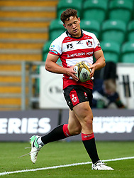 Jacob Morris of Gloucester Rugby scores a try - Mandatory by-line: Robbie Stephenson/JMP - 28/07/2017 - RUGBY - Franklin's Gardens - Northampton, England - Harlequins v Gloucester Rugby - Singha Premiership Rugby 7s