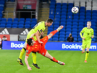 Football - 2022 FIFA World Cup - European Qualifying - Group E - Wales vs Czech Republic - Cardiff City Stadium<br /> <br /> Wayne Hennessey Wales\ brought down by Jan Boril Czech Republic<br /> <br /> COLORSPORT/WINSTON BYNORTH