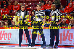 26 November 2016:  Jeb Hartness, Paul Janssen, Ervin Wilson during an NCAA  mens basketball game between the Ferris State Bulldogs the Illinois State Redbirds in a non-conference game at Redbird Arena, Normal IL