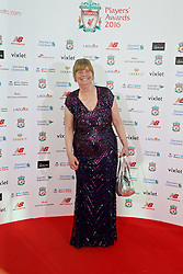 LIVERPOOL, ENGLAND - Thursday, May 12, 2016: Hillsborough campaigner Margaret Aspinall arrives on the red carpet for the Liverpool FC Players' Awards Dinner 2016 at the Liverpool Arena. (Pic by David Rawcliffe/Propaganda)