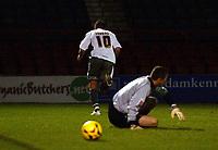 Photo: Olly Greenwood.<br />Leyton Orient v Bristol City. Coca Cola League 1. 01/11/2006. Bristol's Phil Jevons wheels away in celebration of scoring to put Bristol 2-1 up