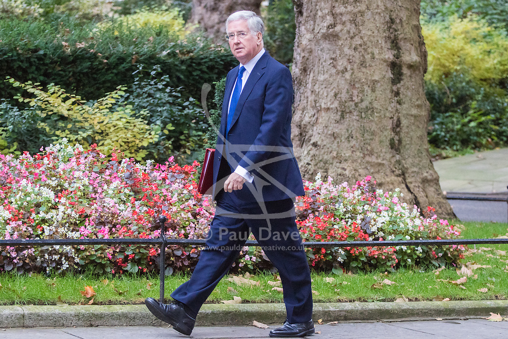 Downing Street, London, October 18th 2016. Defence Secretary Michael Fallon arrives at the weekly cabinet meeting at 10 Downing Street in London.