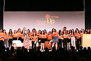 Step Up Women's Network Baord President Molly Leutkemeyer, and Step Up students