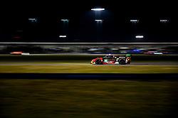 DAYTONA, FLORIDA - JANUARY 25, 2020: Precision Performance Motorsports, Brandon Gdovic, Johnathan Hoggard, Mark Kvamme and Eric Lux driving the Lamborghini Huracan GT3 Evo during the 58th running of the IMSA WeatherTech Sports Car Championship Rolex 24 at Daytona International Speedway.