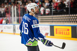 Sabahudin Kovacevic of Slovenia after the 2017 IIHF Men's World Championship group B Ice hockey match between National Teams of Slovenia and Belarus, on May 13, 2017 in AccorHotels Arena in Paris, France. Photo by Vid Ponikvar / Sportida