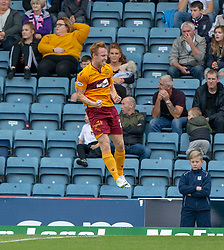 Motherwell's Danny Johnson (24) cele scoring their first goal. Dundee 1 v 3 Motherwell, SPFL Ladbrokes Premiership game played 1/9/2018 at Dundee's Kilmac stadium Dens Park