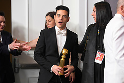 January 6, 2019 - Los Angeles, California, U.S. - Rami Malek, winner for ''Bohemian Rhapsody,'' in the Press Room during the 76th Annual Golden Globe Awards at The Beverly Hilton Hotel. (Credit Image: © Kevin Sullivan via ZUMA Wire)