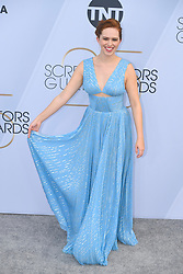 January 27, 2019 - Los Angeles, California, U.S - ELIZABETH McLAUGHLIN during silver carpet arrivals for the 25th Annual Screen Actors Guild Awards, held at The Shrine Expo Hall. (Credit Image: © Kevin Sullivan via ZUMA Wire)
