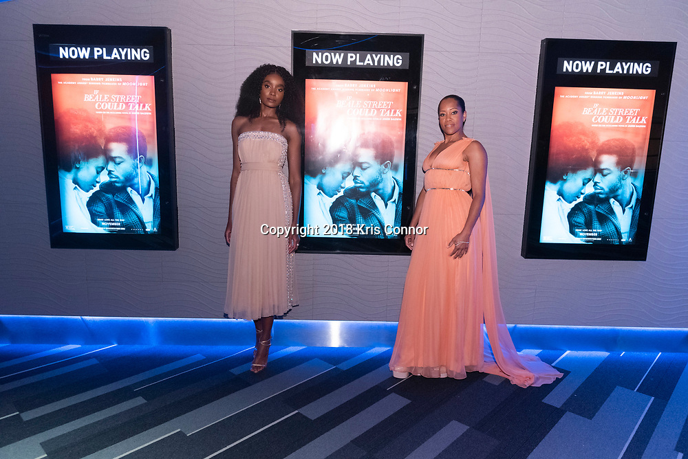 """WASHINGTON, DC - OCTOBER 27: Actresses Regina Hall, and KiKi Layne attend the closing night screening of """"IF BEALE STREET COULD TALK"""" at the inaugural Smithsonian African American Film Festival 2018"""" at National Air and Space Museum in Washington DC on October 27th, 2018. (Photo by Kris Connor/Annapurna Pictures)"""