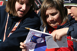 Slovenian fans at Flying Hill Individual in last 4th day of 32nd World Cup Competition of FIS World Cup Ski Jumping Final in Planica, Slovenia, on March 22, 2009. (Photo by Vid Ponikvar / Sportida)