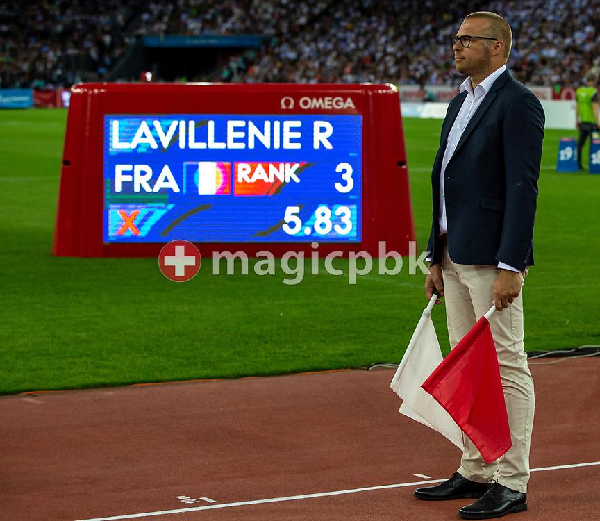 Referee during the Iaaf Diamond League meeting (Weltklasse Zuerich) at the Letzigrund Stadium in Zurich, Switzerland, Thursday, Aug. 29, 2019. (Photo by Patrick B. Kraemer / MAGICPBK)