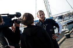 Franceso Bruni at the interview. Danish Open 2010, Bornholm, Denmark. World Match Racing Tour. photo: Loris von Siebenthal - WMRT
