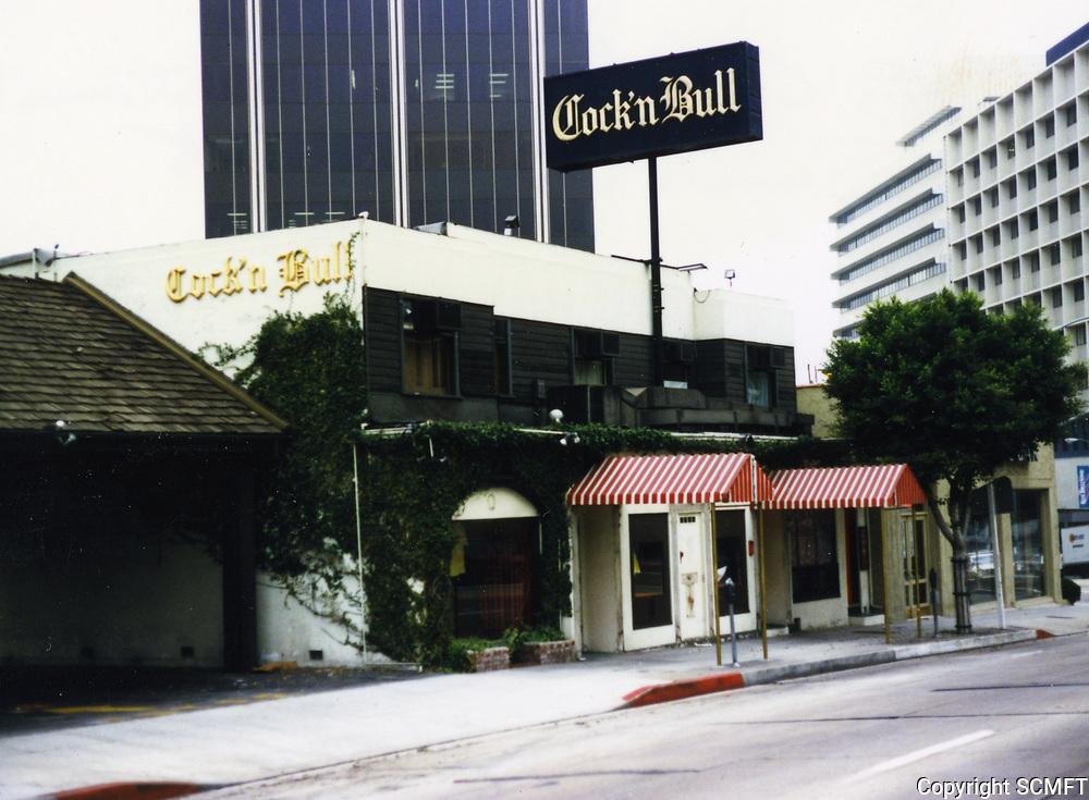 1988 Cock 'n Bull Restaurant on Sunset Blvd. in West Hollywood