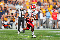 Sep 4, 2021; College Park, Maryland, USA; Maryland Terrapins quarterback Taulia Tagovailoa (3) runs out of the pocket during the second quarter against the West Virginia Mountaineers at Capital One Field at Maryland Stadium. Mandatory Credit: Ben Queen-USA TODAY Sports