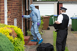 © Licensed to London News Pictures 06/06/2021. <br /> Bexleyheath, UK. Forensics are on scene. A man has been arrested on suspicion of murder after the body of an 89 year old woman was found dead at a property in Bexleyheath, London yesterday, police are still on scene. Photo credit:Grant Falvey/LNP