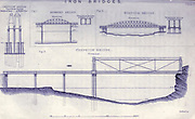 """Iron Bridge design from the book The life of Isambard Kingdom Brunel, civil engineer. By Isambard Brunel Published in London by Longmans, Green in 1870. Isambard Kingdom Brunel FRS MInstCE (9 April 1806 – 15 September 1859) was an English civil engineer who is considered """"one of the most ingenious and prolific figures in engineering history,"""" """"one of the 19th-century engineering giants,""""and """"one of the greatest figures of the Industrial Revolution, [who] changed the face of the English landscape with his groundbreaking designs and ingenious constructions."""" Brunel built dockyards, the Great Western Railway (GWR), a series of steamships including the first propeller-driven transatlantic steamship, and numerous important bridges and tunnels. His designs revolutionised public transport and modern engineering."""