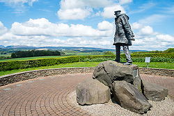 The David Stirling SAS (Special Air Service), Long Range Desert Group (LRDG) War memorial Doune Scotland<br /> <br />   13 May 2018 <br />   Copyright Paul David Drabble<br />   www.pauldaviddrabble.co.uk