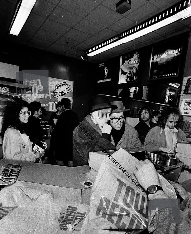 Elvis Costello at Tower records Kensington
