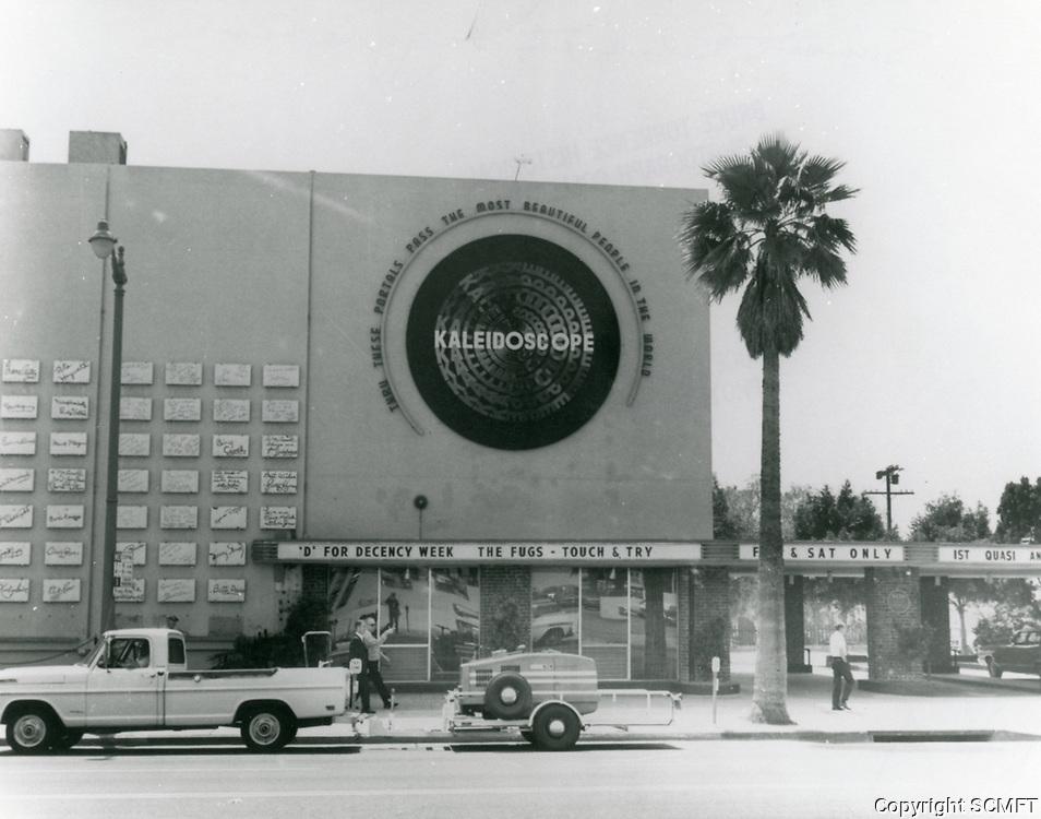1968 Kaleidoscope Theater on Sunset Blvd. at Argyle St.