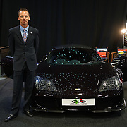 London,England, UK : 5th May 2016 : Lee Cunningham Sales & Event director showcases McLaren at London Motor Show at Battersea Evolution over four days, with an exclusive preview in London. Photo by See Li